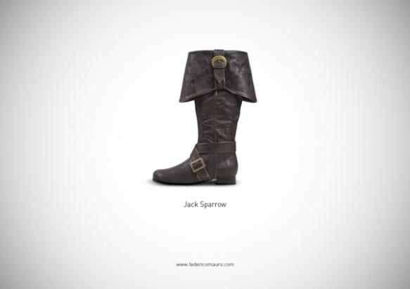 Famous Shoes - Jack Sparrow (Pirates of the Caribbean - La Maledizione della Prima Luna)