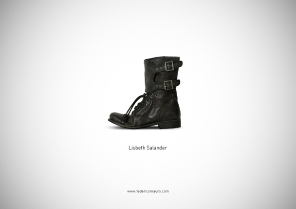Famous Shoes - Lisbeth Salander (The Girl with the Dragon Tattoo - Uomini che odiano le donne)