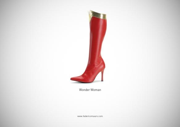 Famous Shoes - Wonder Woman (Mulher Maravilha)
