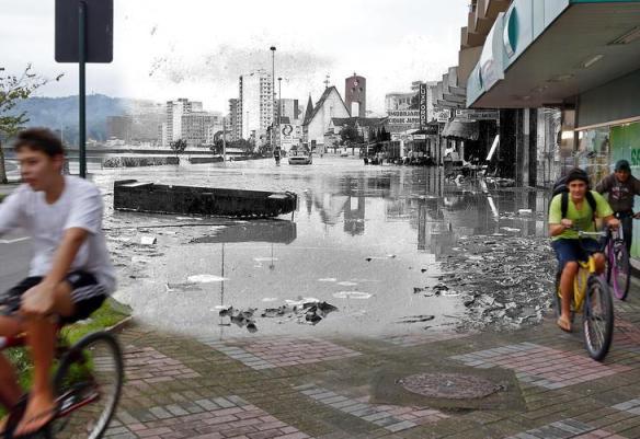 fotomontagens da enchente de 1983 em Blumenau 03