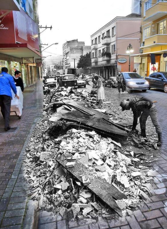 fotomontagens da enchente de 1983 em Blumenau 05
