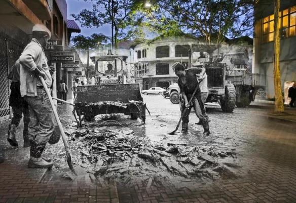 fotomontagens da enchente de 1983 em Blumenau 08
