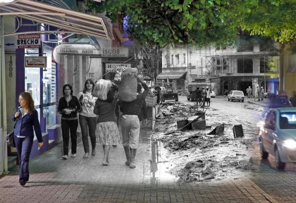 fotomontagens da enchente de 1983 em Blumenau 09