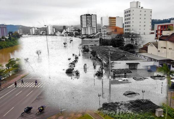 fotomontagens da enchente de 1983 em Blumenau 10
