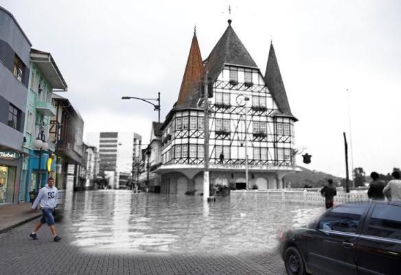 fotomontagens da enchente de 1983 em Blumenau 11