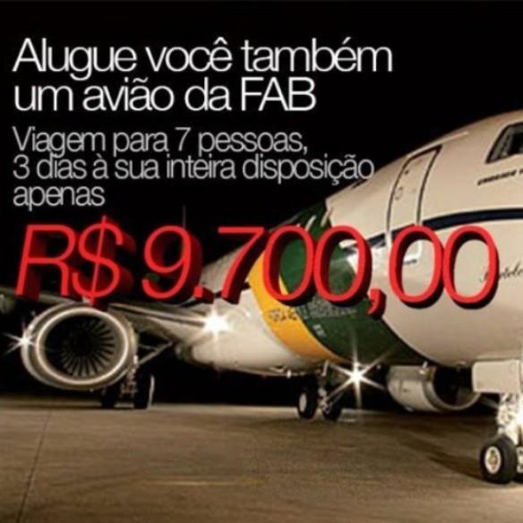 Viaje nos aviões da FAB