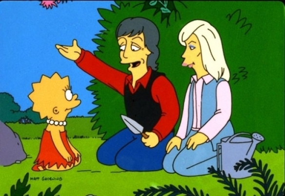 The Simpsons - Paul and Linda McCartney