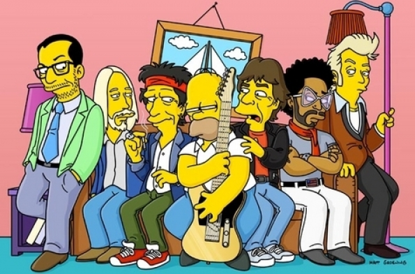 The Simpsons - The Rolling Stones Rock N' Roll Fantasy Camp