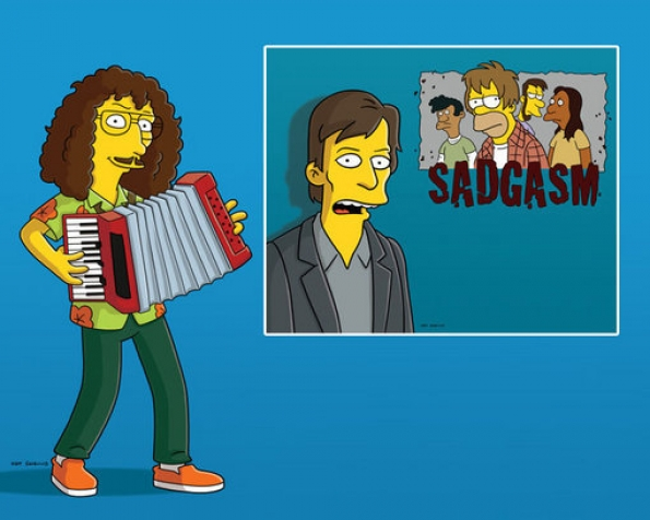 The Simpsons - Weird Al Yankovic and Kurt Loder
