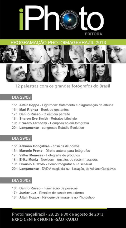 iPhoto Editora leva 12 palestrantes para a PhotoImage Brasil