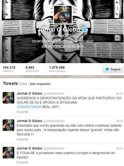 Conta do jornal no Twitter foi invadida pelo grupo Anonymous