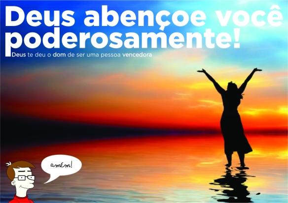Deus abençoe você poderosamente! Arte de dcvitti