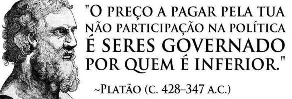 Frase de Platão sobre a participação na política