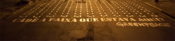 Greenpeace - Cadê a faixa de pedestre que estava aqui?