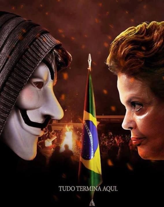 Pra quem você torce nessa queda de braço. Dilma vs. Anonymous