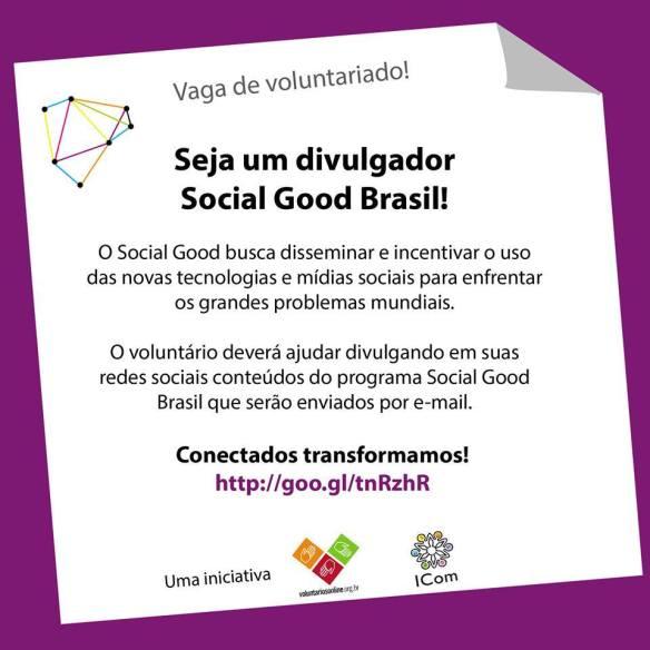 Seminário Social Good Brasil 2013 - seja um divulgador voluntário