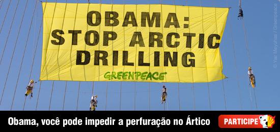 Greenpeace manda recado para Obama