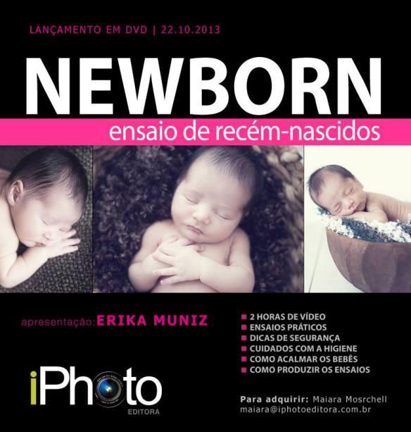 iPhoto Editora apresenta DVD Newborn de Erika Muniz