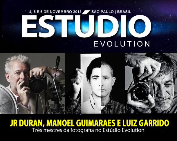 Luiz Garrido, JR Duran e Manoel Guimarães no Estúdio Evolution 2013