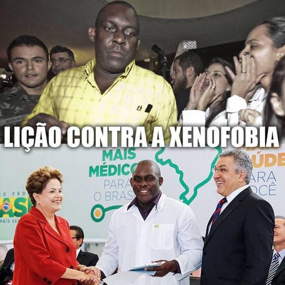 Quando achamos justo criticar, a gente faz, quando achamos justo elogiar, também fazemos. Parabéns pela atitude, Dilma e Padilha. Xô xenofobia, fora racismo e longe de nós, preconceito!