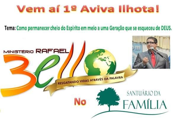 Aviva Ilhota com Pastor Rafael Bello no Santuário da Família de Ilhota