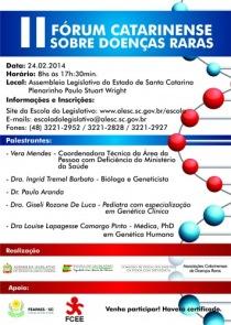 Cartaz do II Fórum Catarinense sobre Doenças Raras