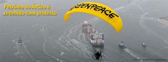 Petróleo do Ártico é recebido com protesto, Dialison Cleber Vitti, Dialison Cleber, Dialison Vitti, Dialison, Cleber Vitti, Vitti, #DialisonCleberVitti, @dcvitti, dcvitti, #blogdodcvitti, Ilhota,