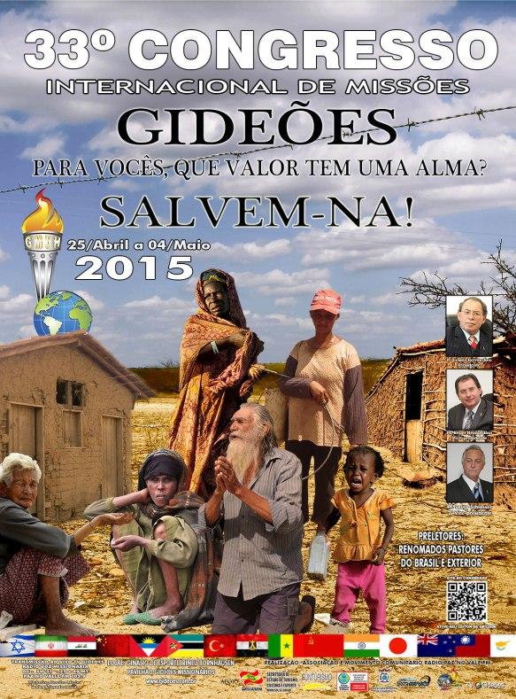 Cartaz do Congresso dos Gideões 2015, Dialison Cleber Vitti, Dialison Cleber, Dialison Vitti, Dialison, Cleber Vitti, Vitti, #DialisonCleberVitti, @dcvitti, dcvitti, #blogdodcvitti, Ilhota, 2015, Newsletter, Feed