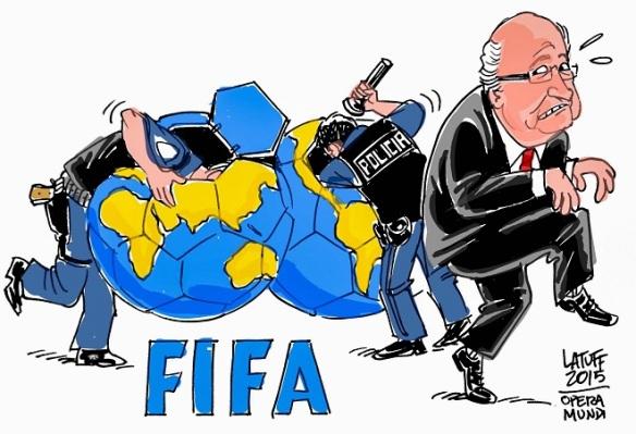 Fifa - Ilustração de Carlos Latuff, Dialison Cleber Vitti, Dialison Cleber, Dialison Vitti, Dialison, Cleber Vitti, Vitti, #DialisonCleberVitti, @dcvitti, dcvitti, #blogdodcvitti, Ilhota, 2015, Newsletter, Feed