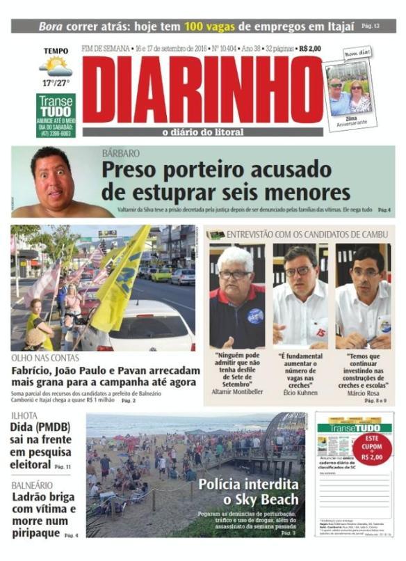 Diarinho, Jornal Diarinho, Eleições, Eleições 2016, Dialison, Dialison Cleber, Dialison Cleber Vitti, DialisonCleberVitti, Dialison Vitti, Dialison Ilhota, Cleber Vitti, Vitti, dcvitti, @dcvitti, #dcvitti, #DialisonCleberVitti, #blogdodcvitti, blogdodcvitti, blog do dcvitti, Ilhota, Newsletter, Feed, 2016, ツ