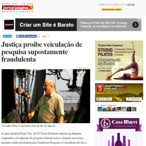 Print do jornal Página 3, Página 3, Jornal Página 3, Dialison, Dialison Cleber, Dialison Cleber Vitti, DialisonCleberVitti, Dialison Vitti, Dialison Ilhota, Cleber Vitti, Vitti, dcvitti, @dcvitti, #dcvitti, #DialisonCleberVitti, #blogdodcvitti, blogdodcvitti, blog do dcvitti, Ilhota, Newsletter, Feed, 2016, ツ