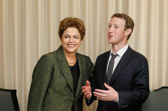 Mark Zuckerberg e Dilma Rousseff