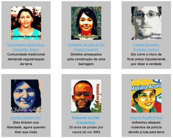 Anistia Internacional - Maratona Escreva por Direitos 2016