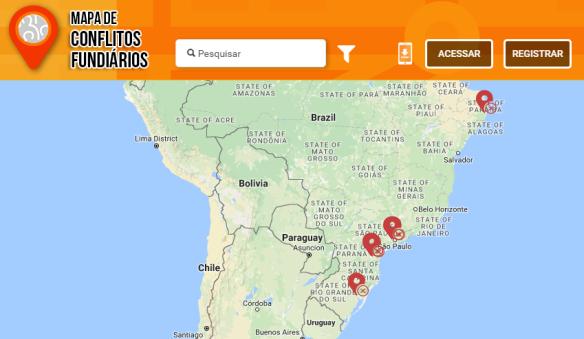 Mapa de Conflitos Fundiários