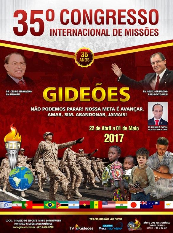 Cartaz do 35º Congresso dos Gideões de 2017