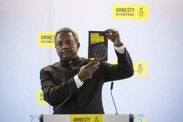 """Relatório anual da Anistia Internacional """"O Estado dos Direitos Humanos no Mundo 2016-2017"""""""