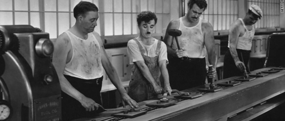 Filme Tempos Modernos de Charles Chaplin