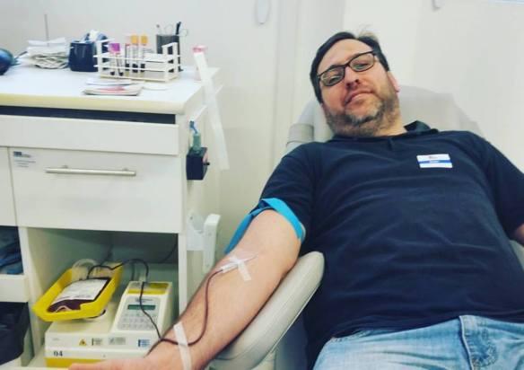 Doação de sangue de Dialison Cleber Vitti