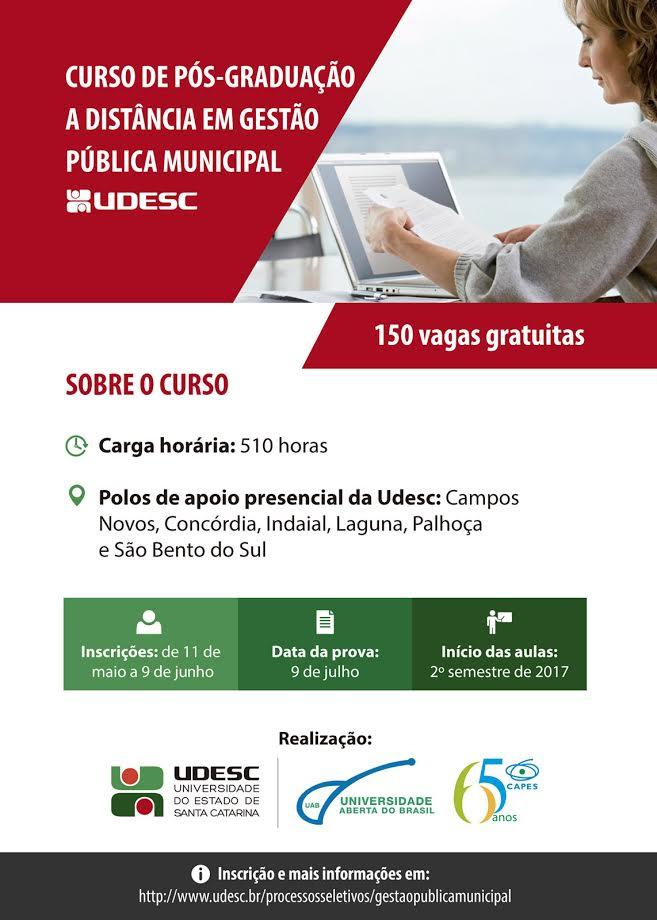 Especialização gratuita em Gestão Pública!