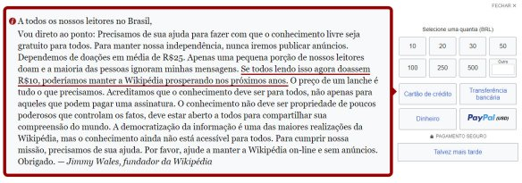 Doação Wikipedia