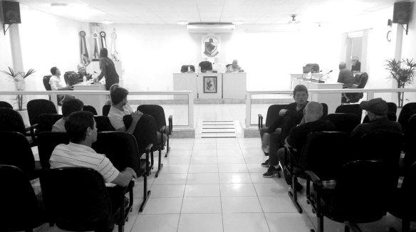 Câmara de vereadores de Ilhota em instalação de mais uma sessão extraordinária