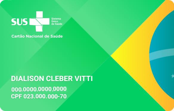 Carteira Nacional de Saúde - Cartão do SUS de Dialison Cleber Vitti