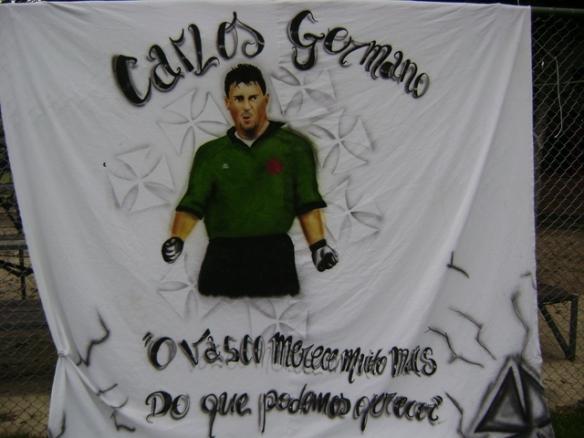 Lendário ídolo vascaíno Carlos Germano