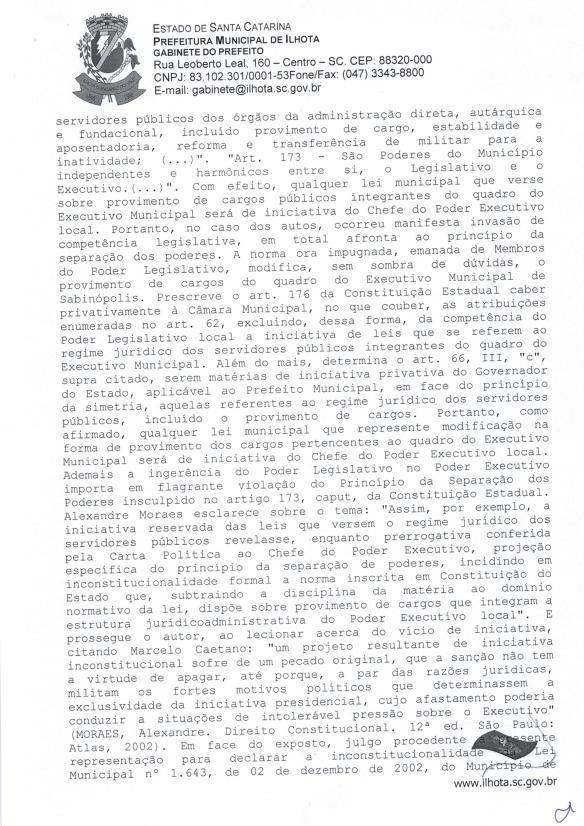 Mensagem de Veto do prefeito ao Projeto de Lei Parlamentar 01-2015 (Lei do nepotismo) - Pag.5