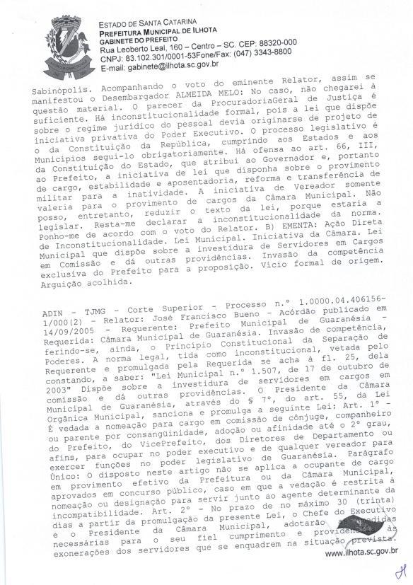 Mensagem de Veto do prefeito ao Projeto de Lei Parlamentar 01-2015 (Lei do nepotismo) - Pag.6