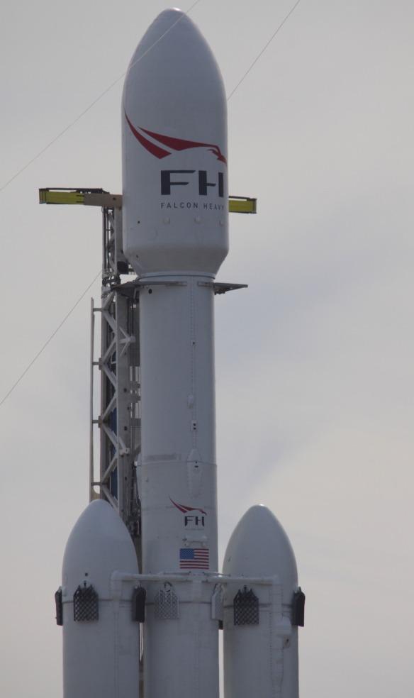 Dia do lançamento do foguete Falcon Heavy da SpaceX
