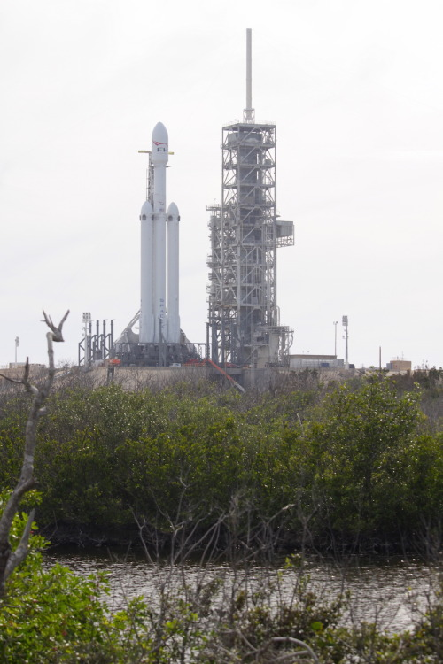 Dia do lançamento do foguete Falcon Heavy da SpaceX