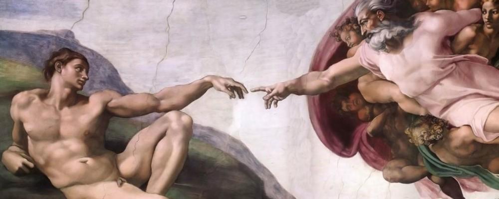 Origem da humanidade - Pintura de Michelangelo