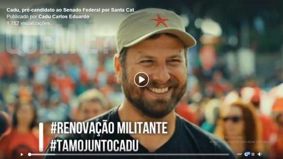 Cadu, pré-candidato ao Senado Federal por Santa Catarina