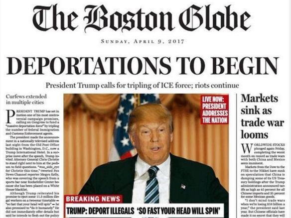 Jornal propõe guerra editorial aos ataques de Trump à comunicação social